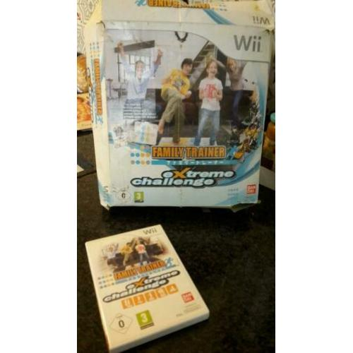 Family Trainer Extreme Challenge inclusief mat Nintendo Wii